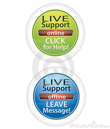 Customer live support buttons