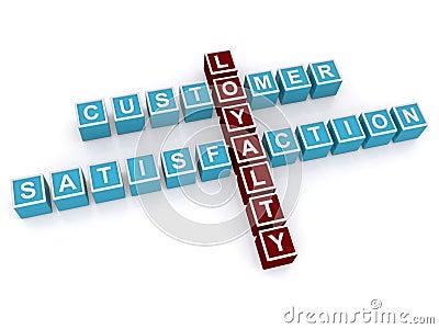 Customer loyalty and satisfaction Cartoon Illustration