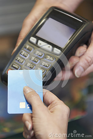 Free Customer Making Purchase Using Contactless Payment Royalty Free Stock Image - 60172226