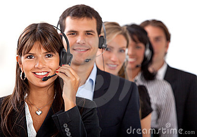Customer representative service team