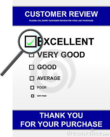 Customer review form