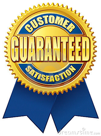 Customer Satisfaction Guaranteed Blue Gold