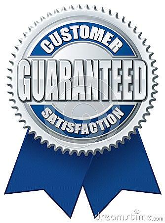 Customer Satisfaction Guaranteed Blue Silver