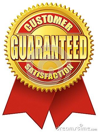 Customer Satisfaction Guaranteed Red Gold
