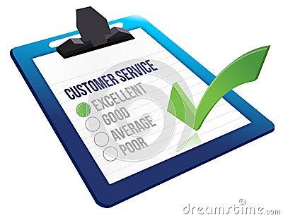 Customer service concept