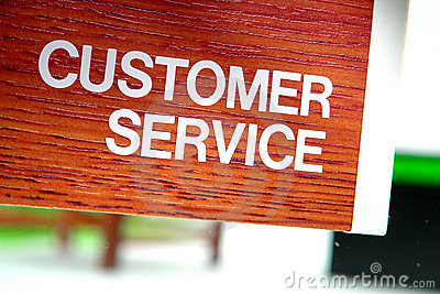 Customer Service Department Sign