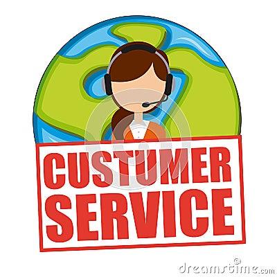 customer service stock vector image 59101527. Black Bedroom Furniture Sets. Home Design Ideas
