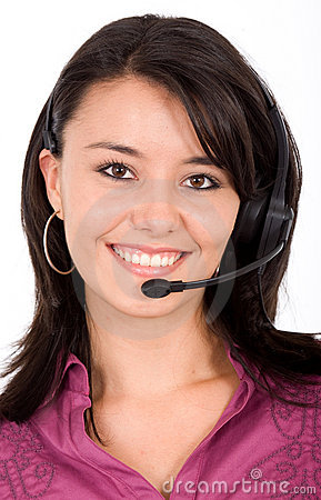 Customer service girl