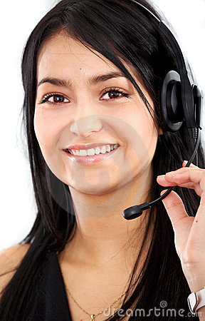 Customer Service Girl Stock Image - Image: 4036651