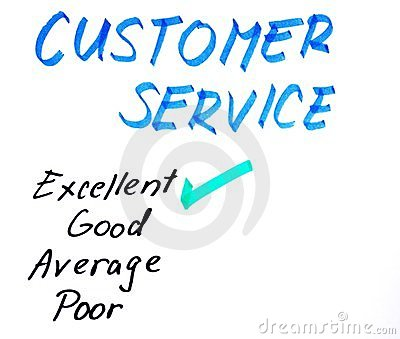 Customer service handwritten rating