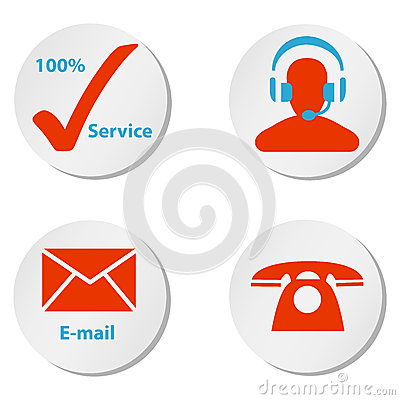 Free Customer Service Icons Buttons And Symbols Royalty Free Stock Photos - 43866628