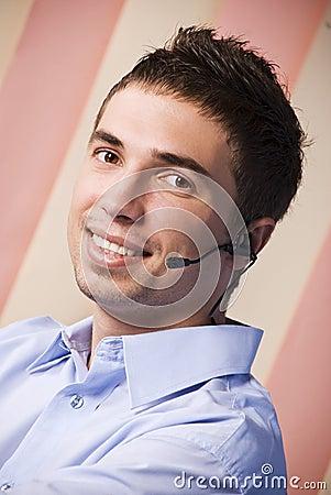 Customer service male operator