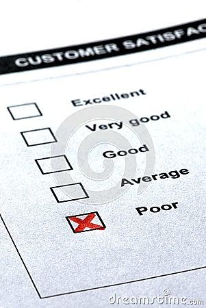 Customer service - negative comment