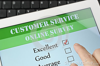 Customer service online survey