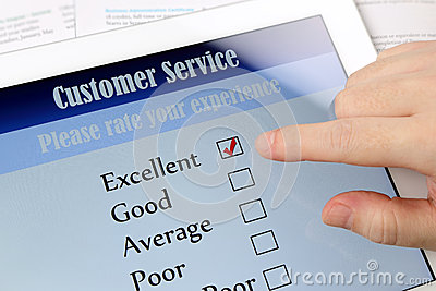Customer service online survey