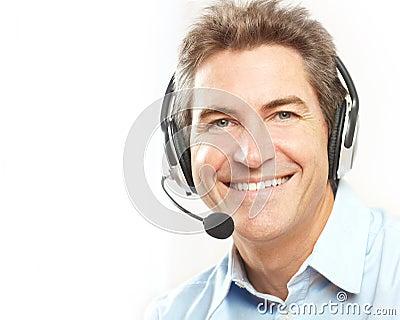 Customer service operator.