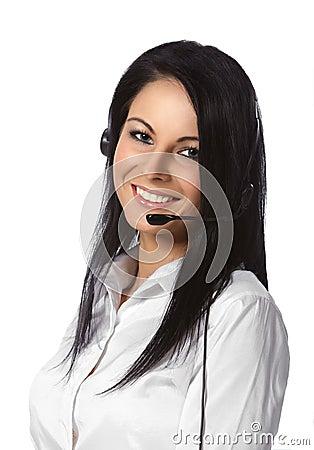 Customer Service Operator White Background