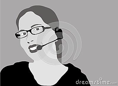 Customer service representative - grayscale