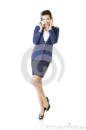 Customer Service Representative Holding Businesscard. Stock Photo - Image: 28866660