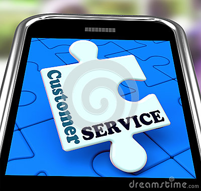 Customer Service On Smartphone Showing Online Support