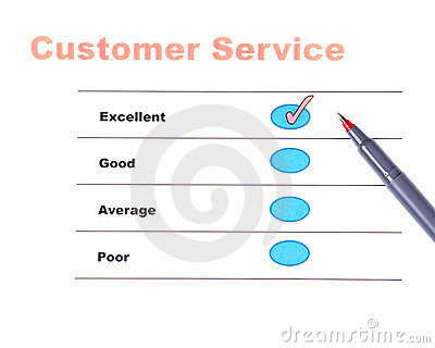 Customer service survey with