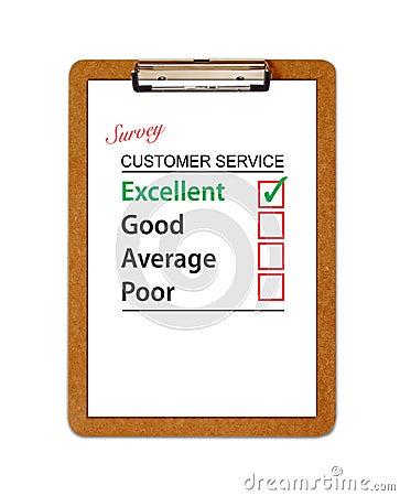 Customer Service Survey Clipboard