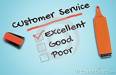 Customer Service word