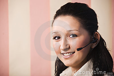Customer service young woman