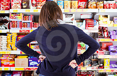 Customer shopping in grocery store  Editorial Stock Image