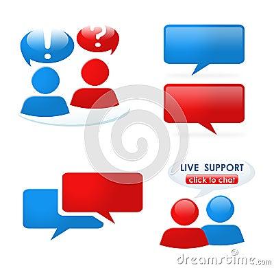 Customer support icon set