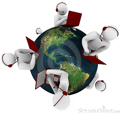 Free Customer Support Network - Global Royalty Free Stock Photography - 9355337