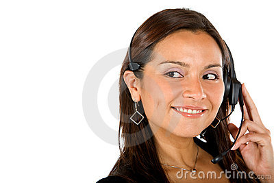 Customer Support Operator Royalty Free Stock Image - Image: 12919076