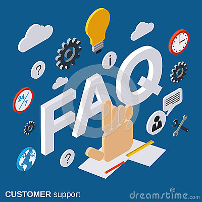 Customer support tutorial user guide faq vector concept for Vector canape user manual