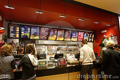 Customers buying fast food Editorial Photography