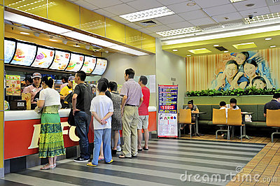 Customers buying fast food Editorial Photo