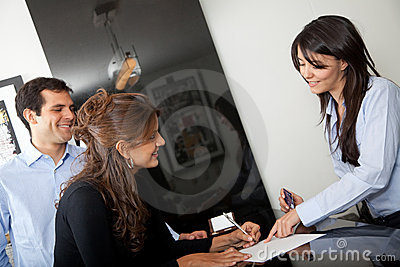 Customers Paying At The Hotel Stock Image - Image: 12809541