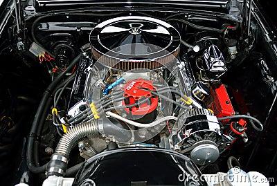 Customized Car Engine Editorial Stock Photo