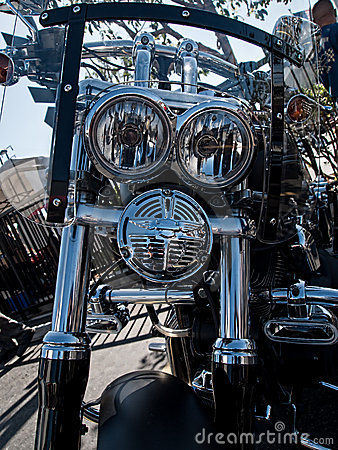 Customized Harley-Davidson motorcycle Editorial Image