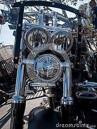 Customized Harley-Davidson motorcycle Editorial Image