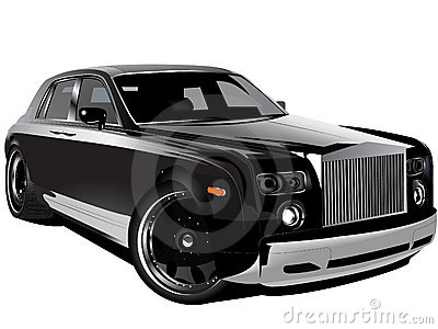 Customized luxury black Rolls Royce phantom car