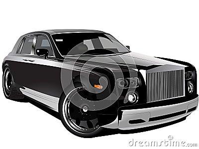 Customized luxury black Rolls Royce phantom car