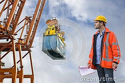 Customs Control at a harbor