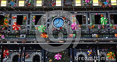 Customs House on Vivid Sydney Editorial Photography