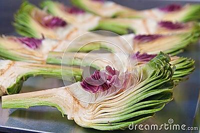 Cut artichokes