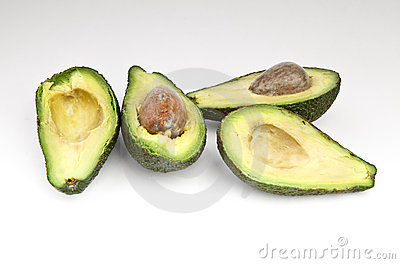 Cut avocado fruit