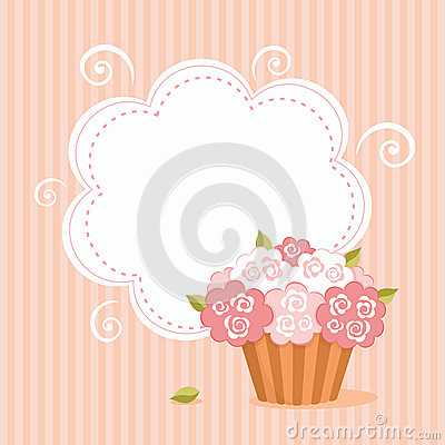 Cut background with cupcake