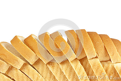 Cut bread isolated