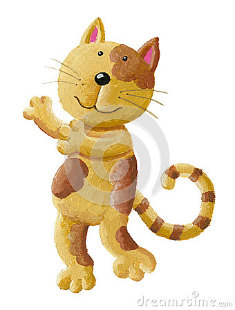 Cut cat giving hug