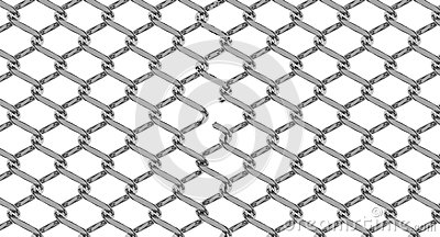 Cut chain link fence