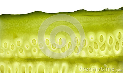 Cut cucumber
